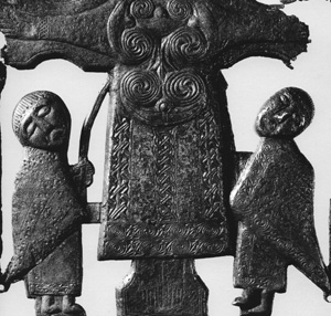 bronze Crucifiction plaque from St John church near Athlone